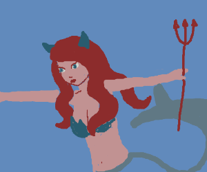 The Little Mermaid becomes the devil.