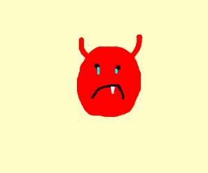 Red Devil from Scream Queens is sad - Drawception