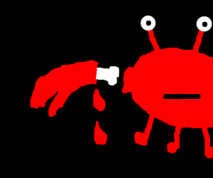 Crab is bleeding