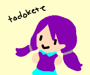 little girl w/ purple hair called Todxete
