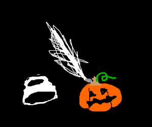 Ink well stabs Jack O Lantern with a Quill?