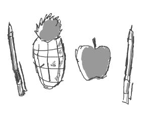 Pen Apple Pineapple Pen