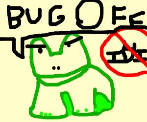 slurpy the anti-derail frog says bug off