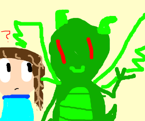 You with a green dragon
