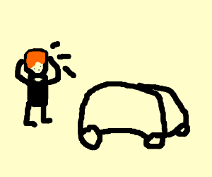 Ron Weasley doesn't know what to do with a car