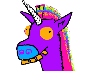 a derpy rainbow unicorn