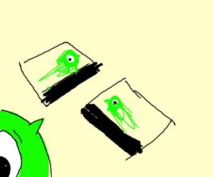 Blurry Pictures Of Mike Wazowski Drawing By Baphometsa Drawception
