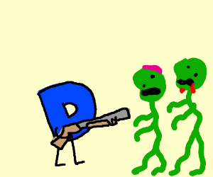 """Drawception """"D"""" fights zombies"""