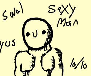 Happy guy is confirmed to be sexy