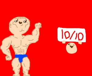 A cute swol man is a 10/10. Yus.