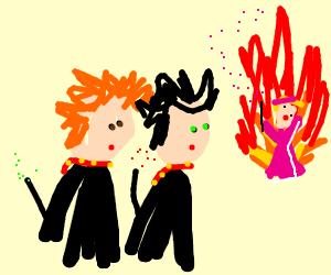 ronand harrypottor watchthe badpinkladyonfire
