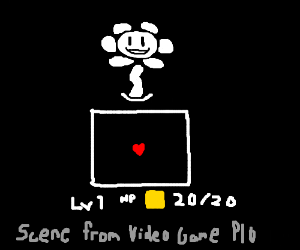 Draw a scene from a video game PIO