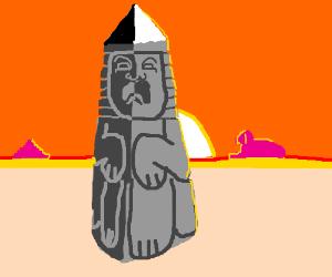 Human obelisk