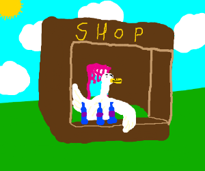 RPG potion salesman is a goose.