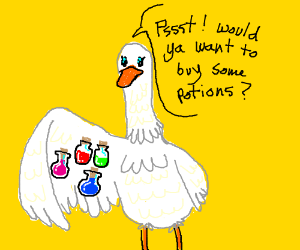 RPG potion salesman is a goose.