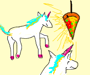 Unicorns powered by pizza