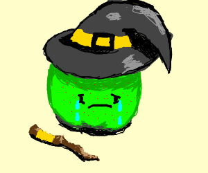 Green Apple with Acne is Sad.