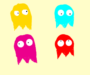 Blinky, Inky, Pinky and Clyde