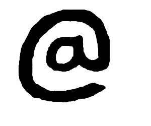 Draw an @ sign.