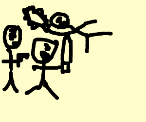 3 stickmen killing eatchother