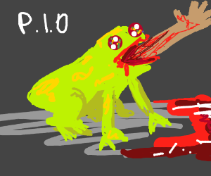 Frog that eats people, pass it on?