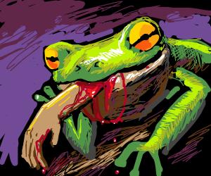 frog eating a human PIO
