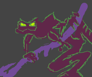 Ravenous monster toad drawn by squeegee