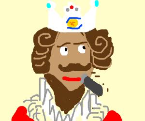 The Burger King Mascot Shaves His Beard