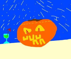 pumpkin's winter leisure