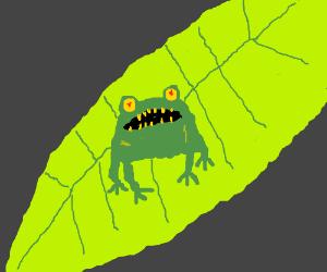 predator frog hunts you