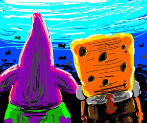 Spongebob and Patrick w/o faces