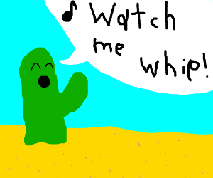 Sentient cactus sings a song