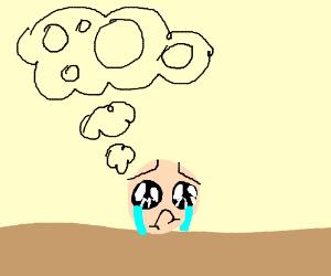 A sad man dreams about circles