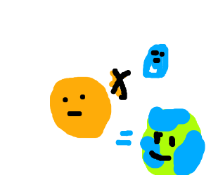 Orange+blue=earth