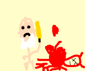 poseidon killing the devil Satan