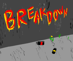 """BREKDOWN"" graffiti"