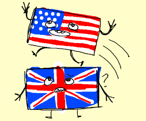 america jumping over UK