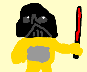 yellow teletubby is darth vader