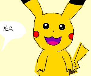 say yes to pikachu