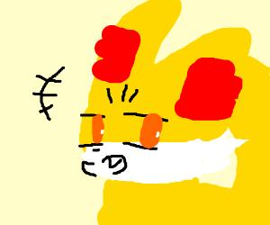 Evil fox laughing. Revenge?