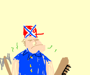 stinky hillbilly with axe and shotgun