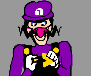 Waluigi completes Triforce of Courage