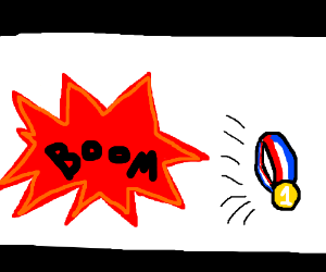 Losing #1 gold medal in an explosion