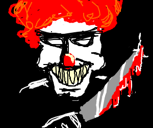 Scary murder clown