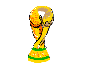 A Well Drawn World Cup Trophy Drawing By Uncle Banana Drawception