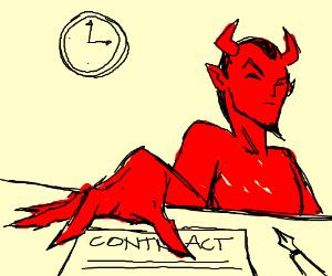 Selling soul to Satan (who wears nail varnish)