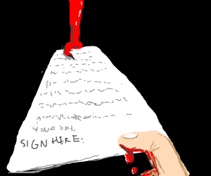 Please sign here to sell you're soul...