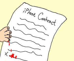 An infernal contract signed in blood