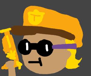 Steampunk Police Officer