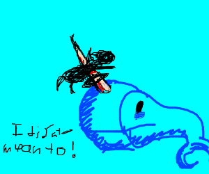 narwhal guilty about stabbing his diver friend